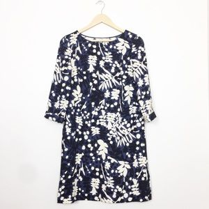 Biden | Blue Floral Shift Dress Pockets Size 6